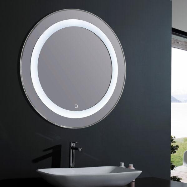 espejo led redondo ambiente
