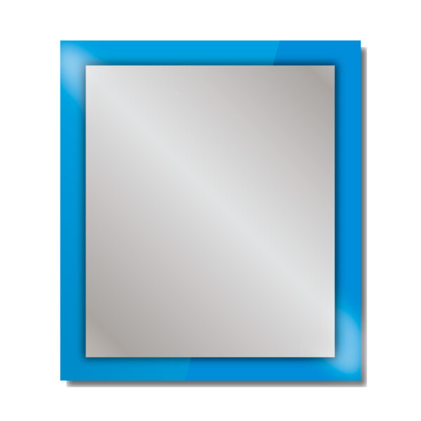 Espejo con marco de color