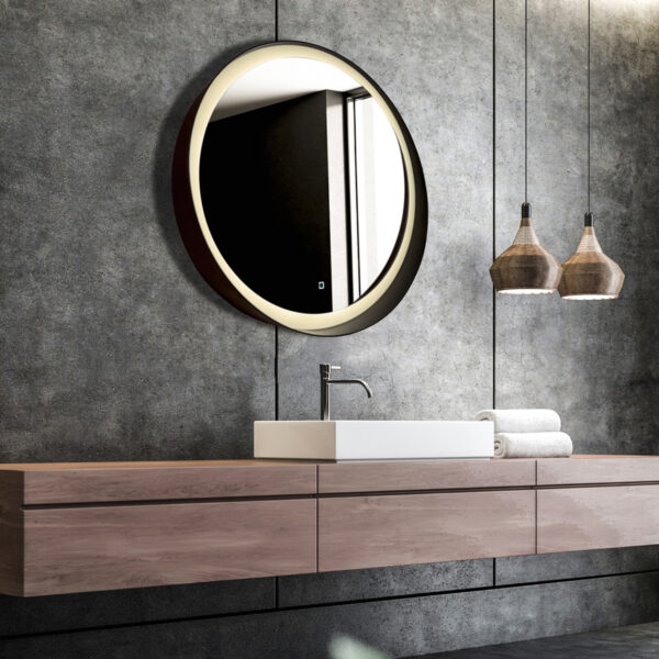 Espejo led redondo con marco