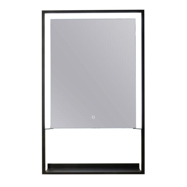espejo led con estante